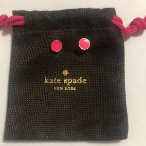 kate spade hot pink stud earrings